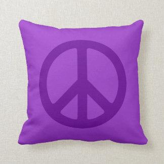 Purple Peace Symbol Throw Pillow