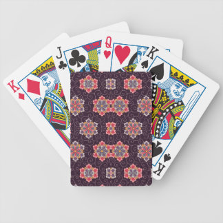 Purple, Peach, Pink, Yellow, Vintage Floral Poker Deck