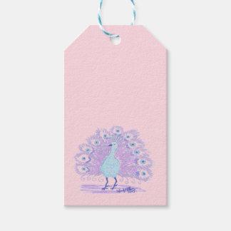 Purple Peacock (Art by EelKat) Gift Tags