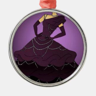 Purple Pearl Dress Metal Ornament