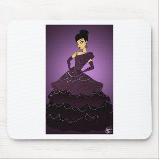 Purple Pearl Dress Mouse Pad