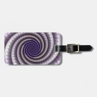 Purple Pearl Fractal Luggage Tag