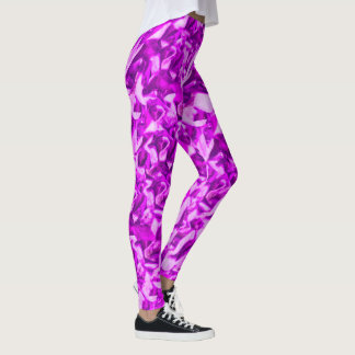 Purple pebble pattern leggings