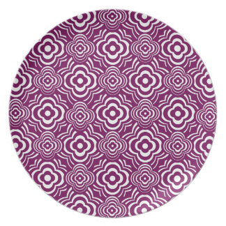 Purple Peddler Dinner Plates