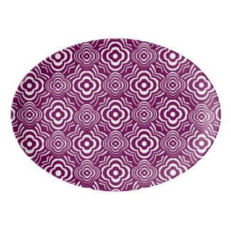 Purple Peddler Porcelain Serving Platter