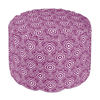 Purple Peddler Pouf
