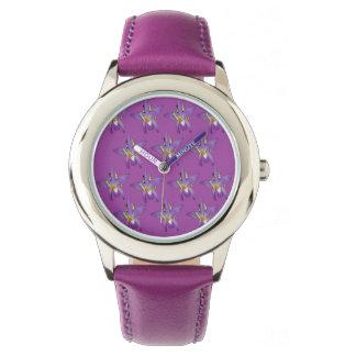 Purple Peeking Frogs Pattern, Watch
