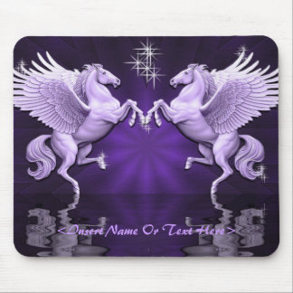 Purple Pegasus Reflections Mouse Pad