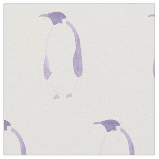 Purple Penguin Fabric