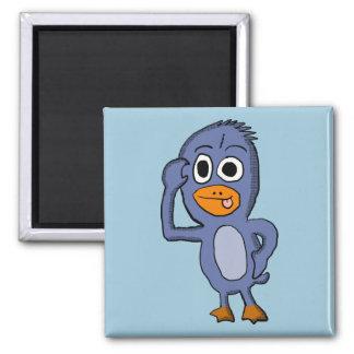 Purple Penguin Magnet