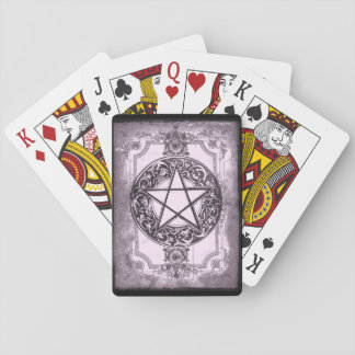 Purple Pentacle Playing Cards, Standard Poker Size Playing Cards