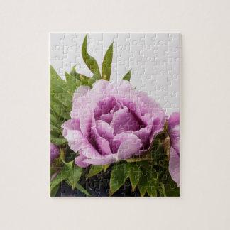 Purple Peonies Bouquet Jigsaw Puzzle