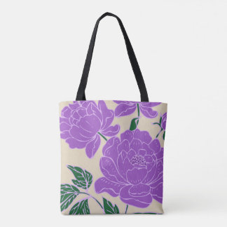 Purple Peonies Tote Bag
