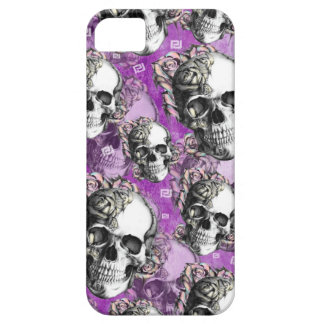 Purple people eater. Skull and roses I phone case. iPhone 5 Cases