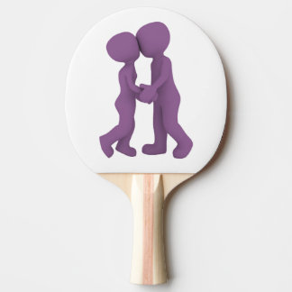 PURPLE PEOPLE IN LOVE PING PONG PADDLE