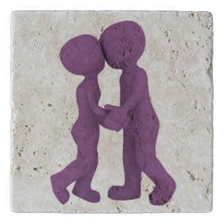 PURPLE PEOPLE IN LOVE TRIVET