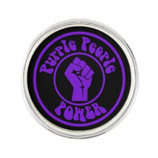 Purple People Power Lapel Pin