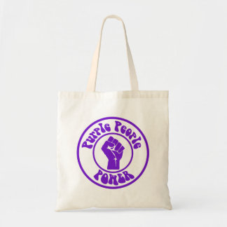 Purple People Power Tote Bag