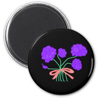 Purple Perfection Bouquet Magnet