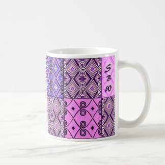 Purple Persian Patchwork (Personalized Mug) Coffee Mug