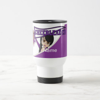 Purple Personalize Cheerleader Mugs