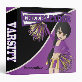 Purple Personalize Diva Cheerleader Vinyl Binders