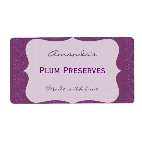 Purple Personalized Canning Label
