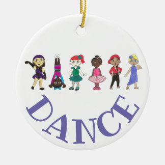 Purple Personalized Dance Teacher Ballet Tap Jazz Ceramic Ornament