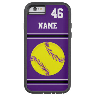 Purple Personalized Softball iPhone Cases