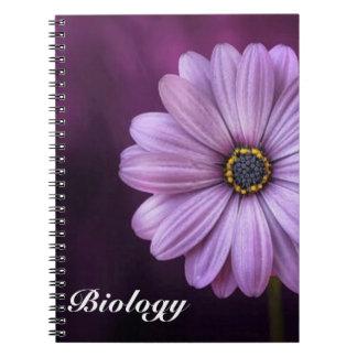 Purple Petal Flower Spiral Notebook