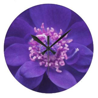 Purple Petal Mandala Wall Clock
