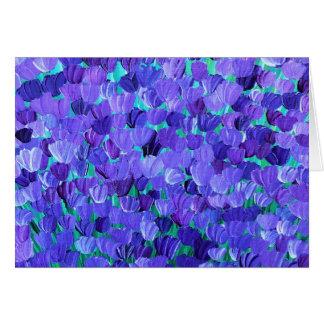 Purple Petals Card