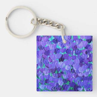 Purple Petals Keychain