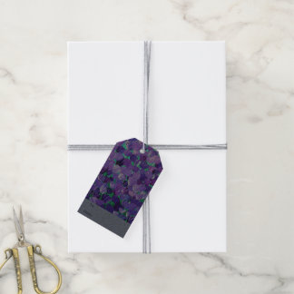 Purple Petals Pack Of Gift Tags