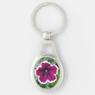 Purple Petunia Keychain