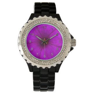 Purple Petunia Wrist Watch