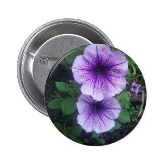 Purple Petunias 2 Inch Round Button