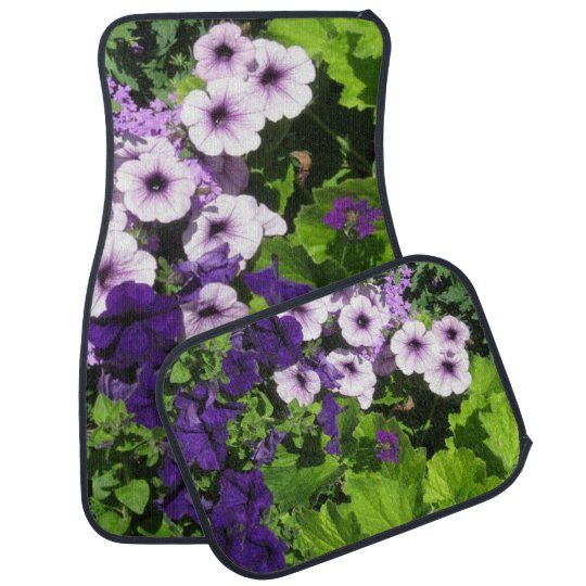 Purple Petunias Car Mats Car Carpet
