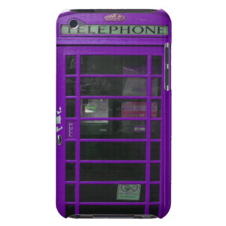 purple phone booth iPod touch case