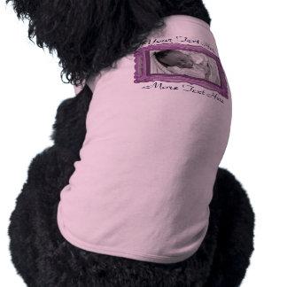 Purple Photo Frame Pet Clothing
