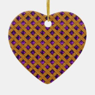 Purple Pie Ceramic Ornament