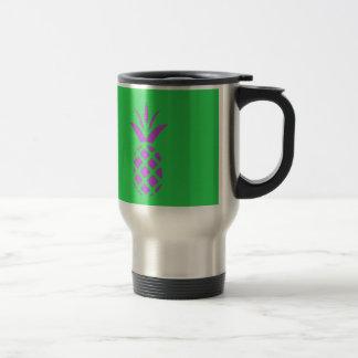 Purple pine apple in green. travel mug