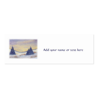 Purple Pine Trees Left Side Mini Business Card