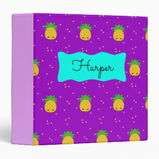 Purple Pineapple Custom Signature Binder