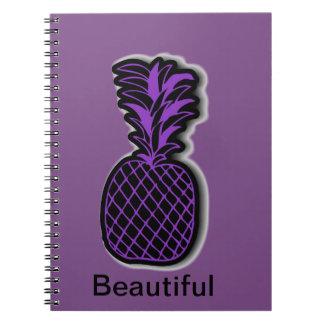 Purple Pineapple notepad Notebook