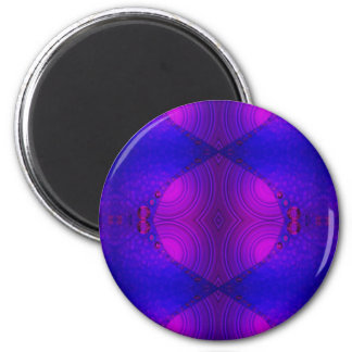 purple pink abstract 2 inch round magnet