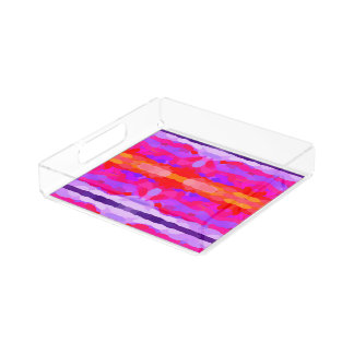 Purple, Pink and Orange Tie Dye Acrylic Tray