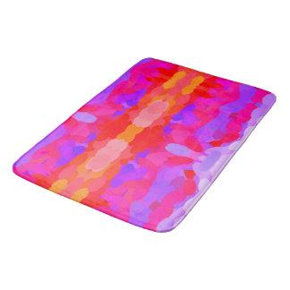 Purple, pink and orange tie dye bath mat