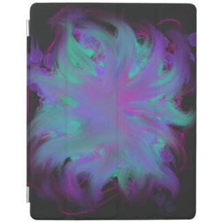 Purple Pink Aqua Flower Abstract Art Painting iPad Cover