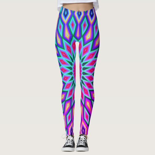 Purple & Pink Aztec Leggings
